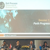 Bali Process Government and Business Forum in Bali, Indonesia on 7 August 2018