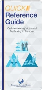 Quick Reference Guide on Interviewing Victims of Trafficking (English)
