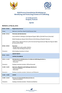 The Bali Process Meeting Agenda